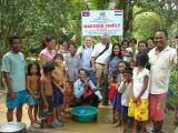 Group photo with people who got water well