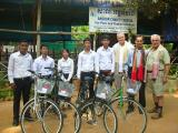 Founder & donors gave students their bikes