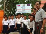 Founder installed water well for students in Pouk district