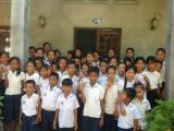 Group of vulnerable students at ACO, Siem Reap.