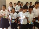Students got their school-supplies from ACO's school