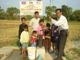 Founder installed a water well for local people in Chreav village, Siem Reap